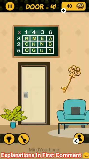 4 Digit Code Door 41 Answers - Puzzle4U Answers